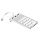 OEM USB Metal Numeric Keypad with Led USB 3.0 hub 3-port Aluminum case