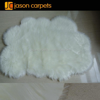 white cloud shape kids faux fur rugcarpet