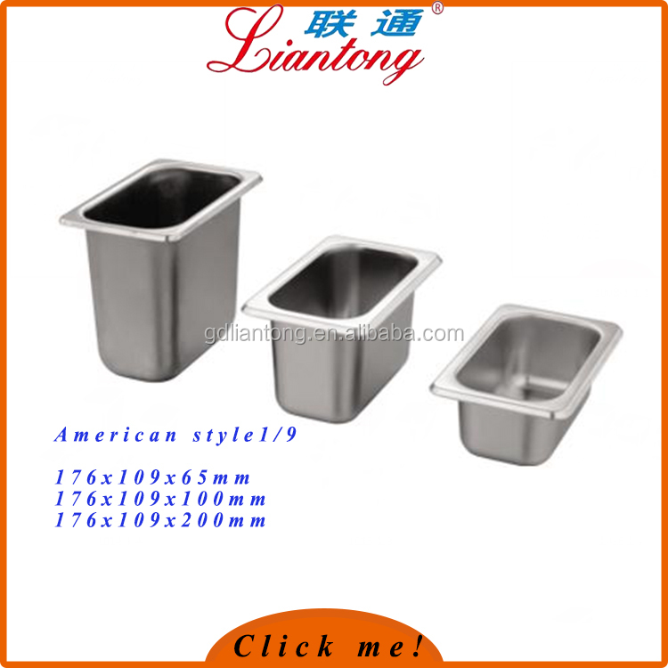 1/ 9 stainless Steel ice cream pan with electrolysis light surface treatment