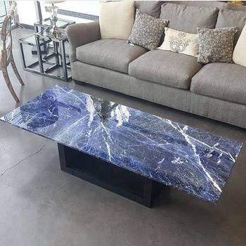 Sodilate Blue Marble Stone Table Top
