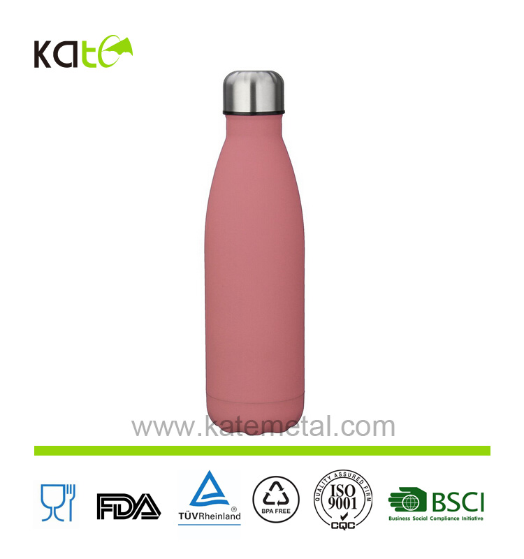 Color customized popular rubber painting Cola Style Hydro Thermos Water Bottle