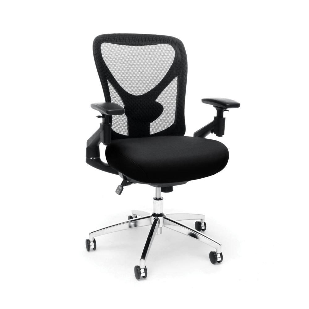 "Stratus 24hr Big & Tall Vinyl Mesh Chair Dimensions: 27.5""W x 28.8""D x 36.6-39.6""H Seat Dimensions: 20""Wx19""Dx18.5-21.5""H Black Mesh Back/Black Vinyl Seat/Chrome Base"