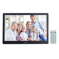 15 inch Digital Picture Frame with Remote Control Support SD and USB , Black