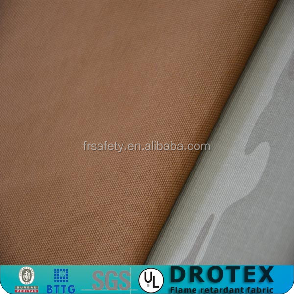 ELECTRA 99% Cotton /1% Antistatic 320 gsm Satin 4/1 flame retardant fabric and military uniform fabric for arc flash protective
