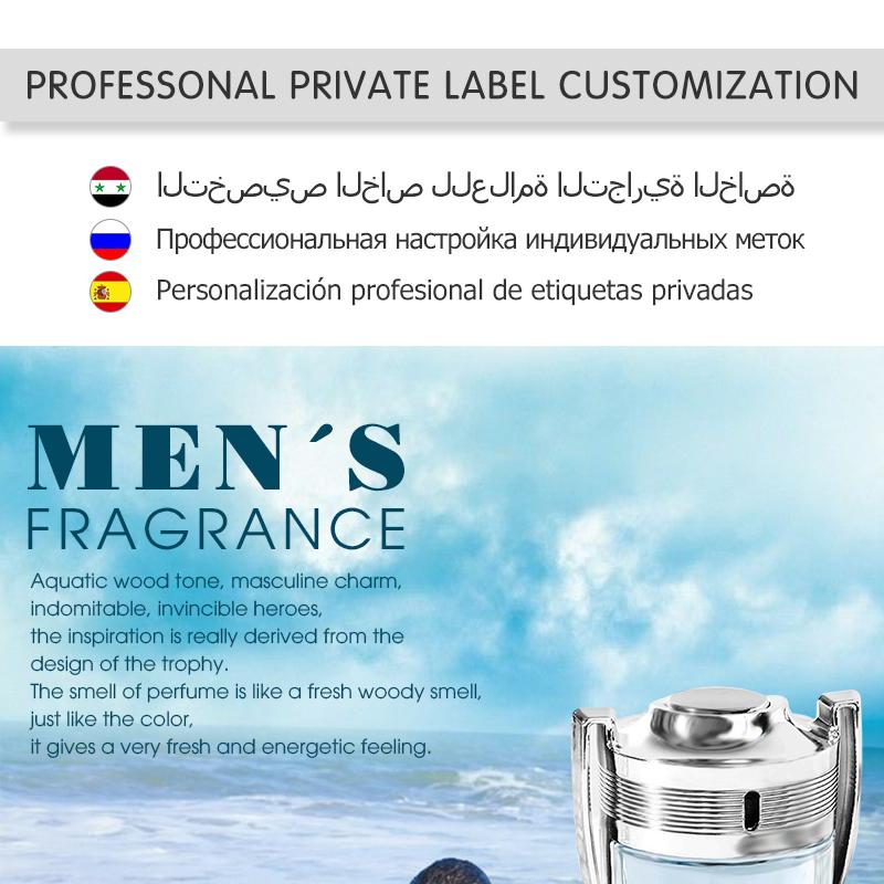 OEM Private Label Designer di Lusso Degli Uomini di Marca di Profumo, Profumo degli uomini, Profumo de marque