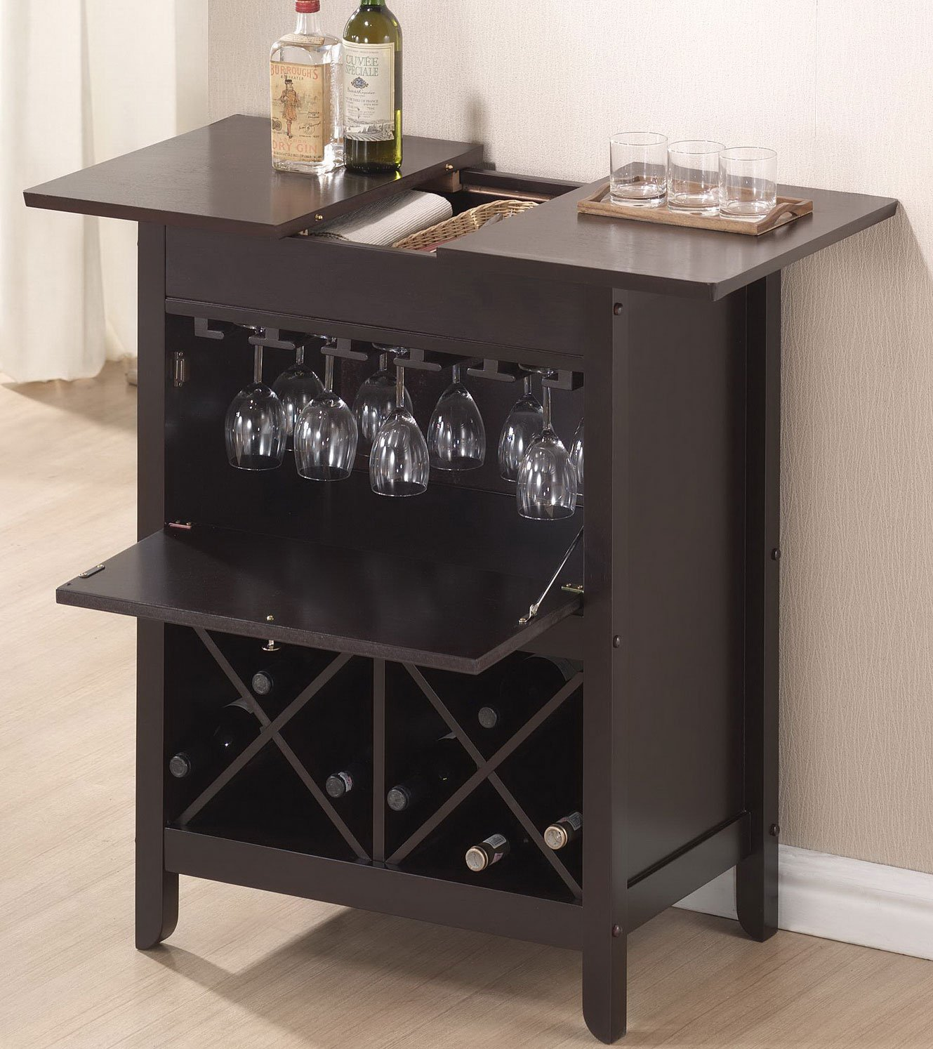 Buy Baxton Studio Tuscany Modern Dry Bar and Wine Cabinet ...
