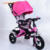 China wholesale cheap price 4 in 1 foldable metal frame european children tricycle with handle for 2 years kids