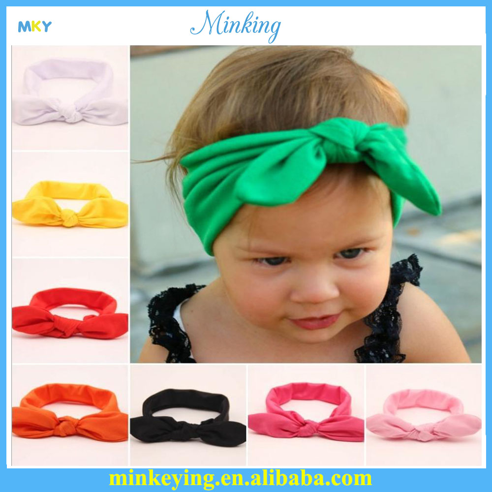 Baby Girls Infant Kid Bow Hairbands Turban Knot Rabbit Headband Headwear NEW Hair Band Accessories