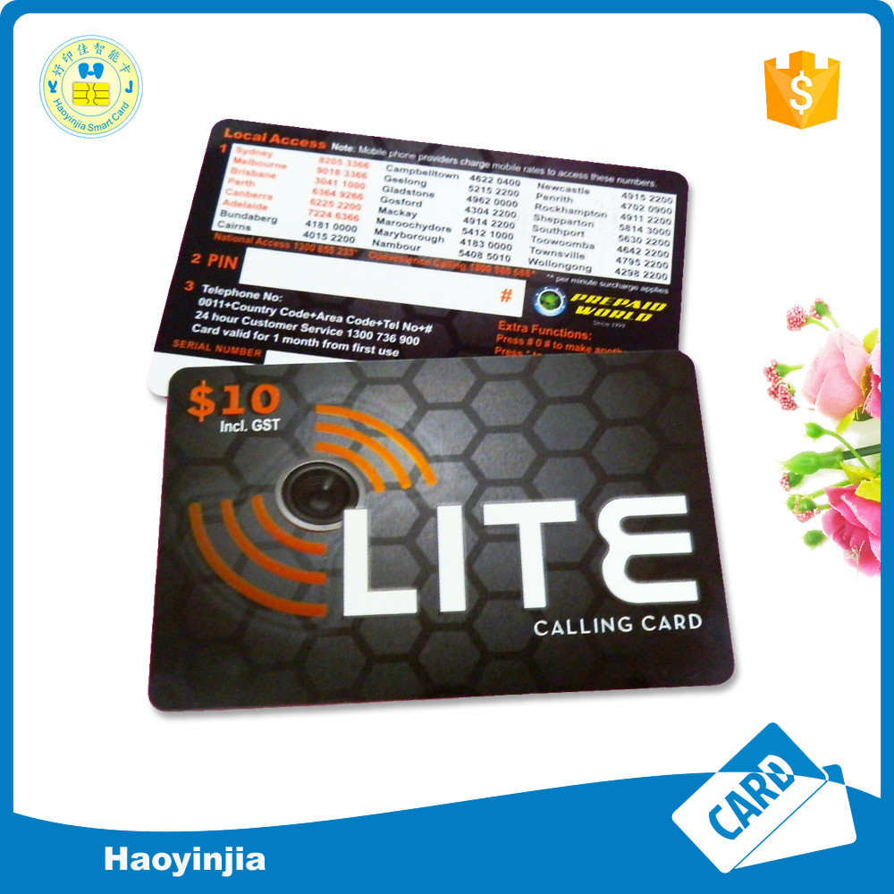 Prepaid top-up phone cards recharge scratch card printing phone calling card