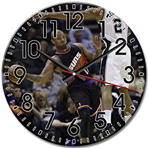 Attractive Phoenix Suns Good Round Wall Clock Arabic Numbers Frameless Silent 10 Inch / 25 cm Diameter