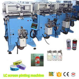 Hot promotional plane/cylinder Precise Flat surface Semi-automatic Screen Printer for t-shirt with fast speed
