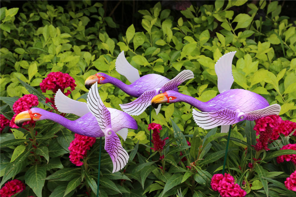 Osgoodway New Products Home & Garden Plastic Decor Flamingo In Purple From Golden Supplier