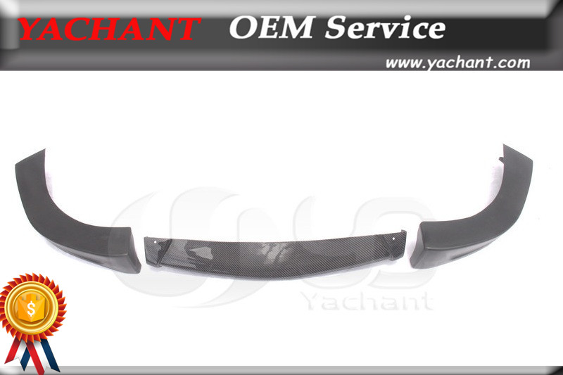 Trade Assurance Carbon Fiber Front Bumper Lip 3 pcs Fit For 1999-2000 Evolution EVO 6 Extreme Style Front Lip