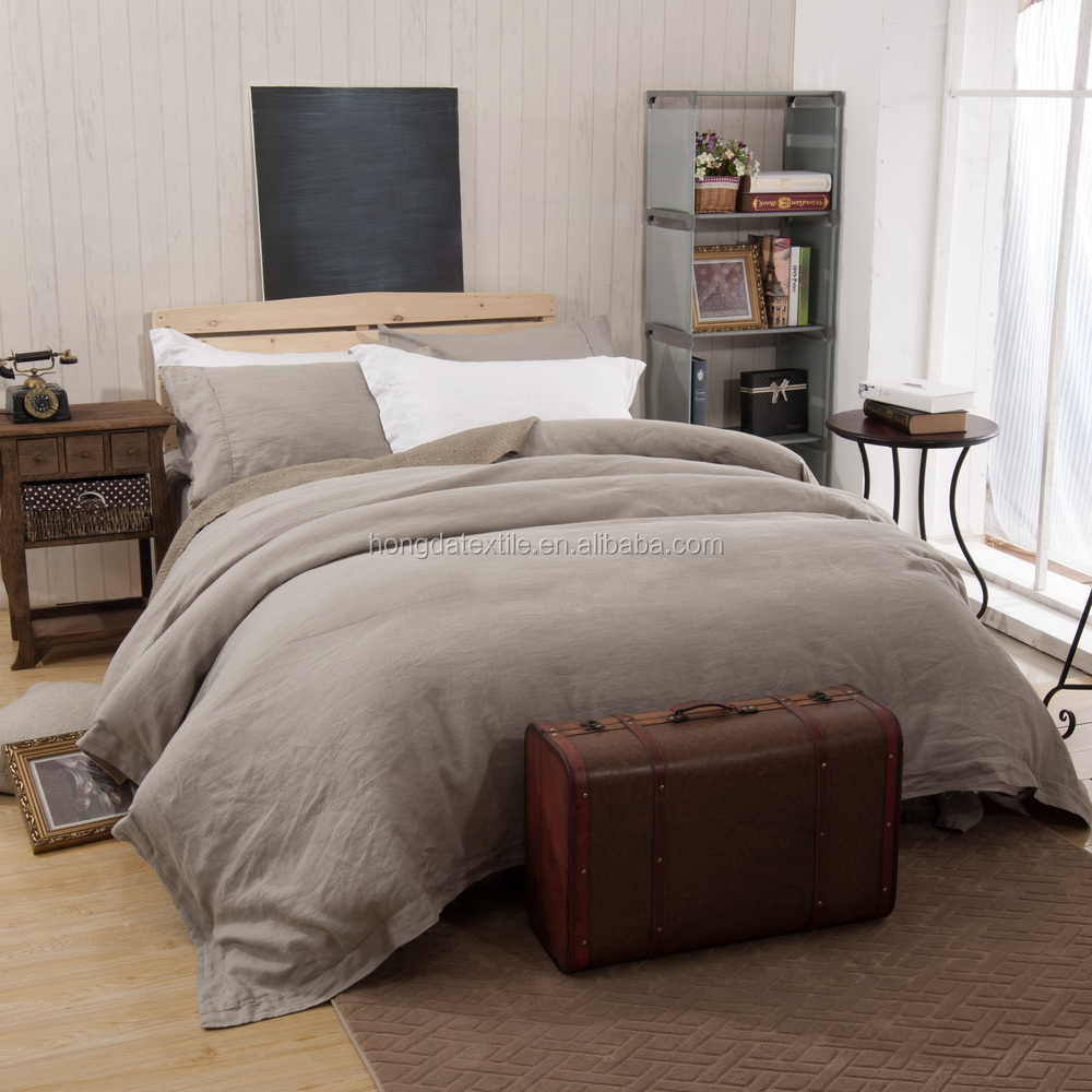 This bedding is woven from breathable cotton and then pre-washed for lived-in softness. Front is hand quilted of % cotton velvet; reverse is made of a linen/cotton .