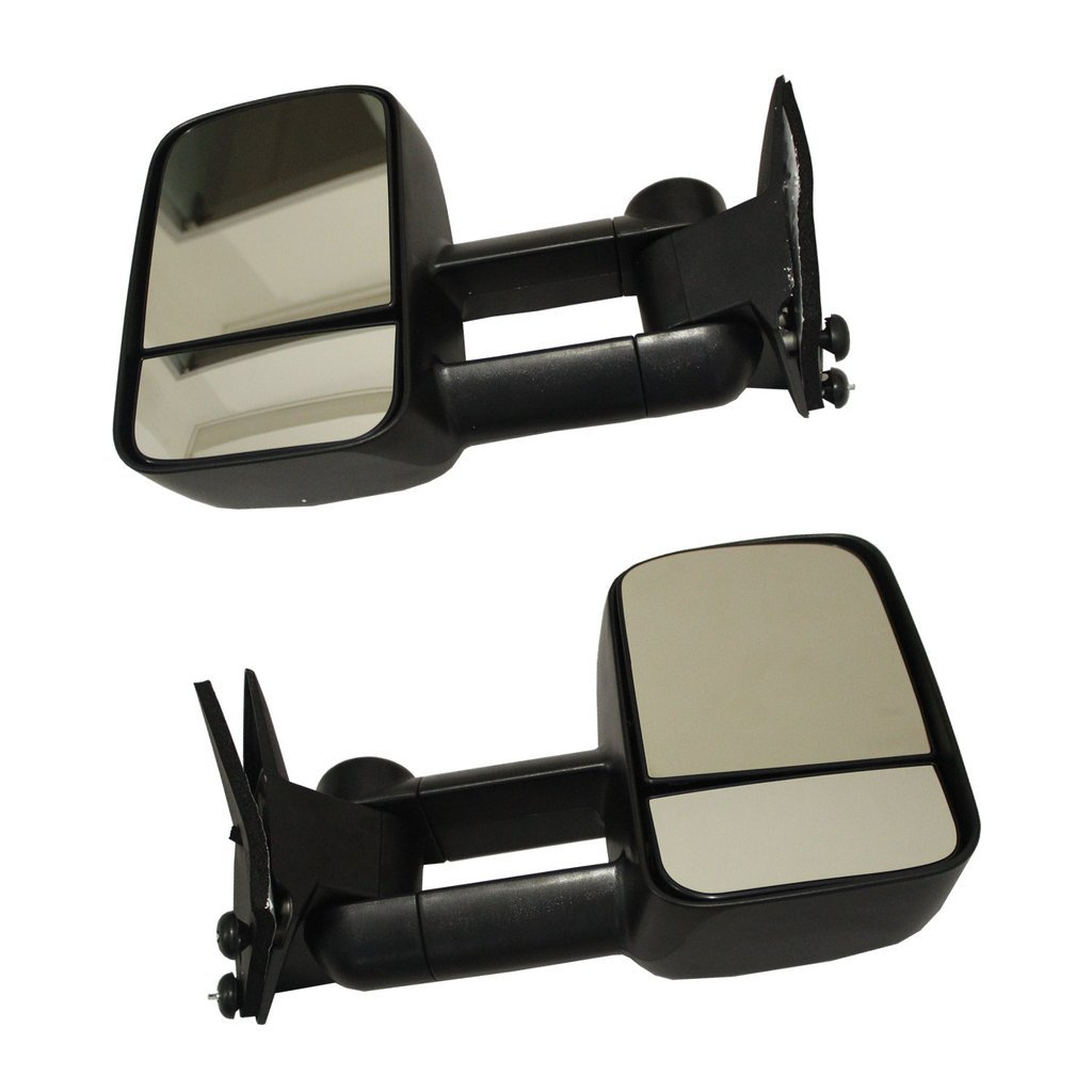JDMSPEED Towing Manual Side View Mirrors Left and Right Pair Set for 88-98 Chevy GMC Truck