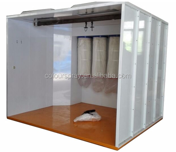 COLO-S-3222 walk in airbrush powder coating spray booth for sale with strong quality