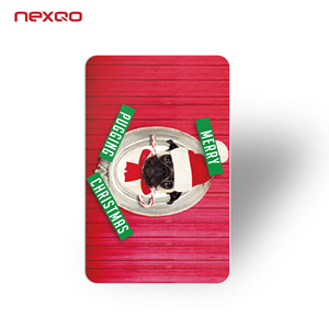 Nexqo, certificated card manufacturer. Plastic loyalty card
