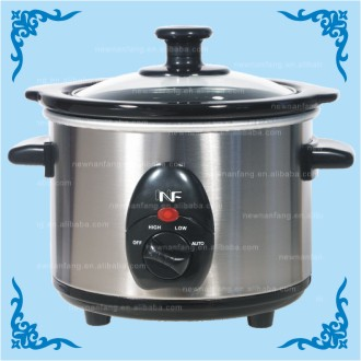 1.5qt Round Stainless Steel Slow Cooker