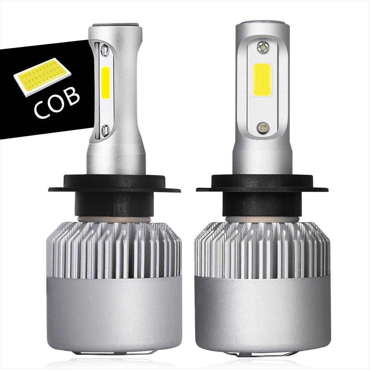 H7 LED Headlight Bulbs, Swatow Industries H7 Headlight Kits Osram COB 10,000lm 6000K Cool White 2PCS - 2 Year Warranty