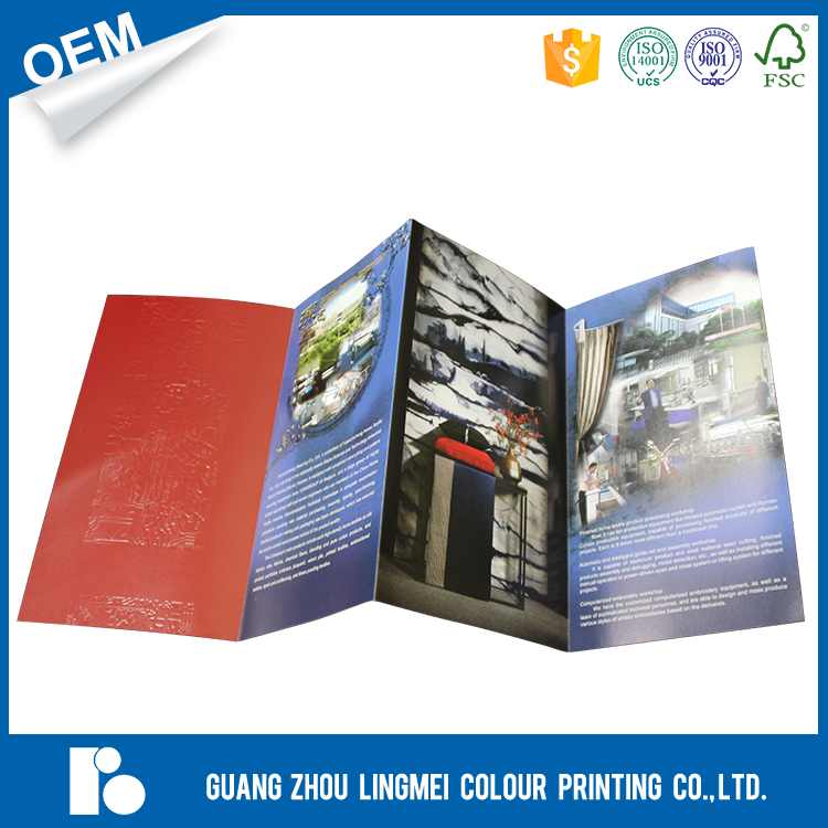 Full color fashion Folded booklet / flyer printing service supplier