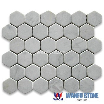 Best Factory Price Italian Bianco Carrara White Marble Mosaic Strong Tiles