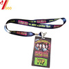 Personal custom polyester dye sublimation print ribbon backstage pass lanyard for the empolyee at concert or event