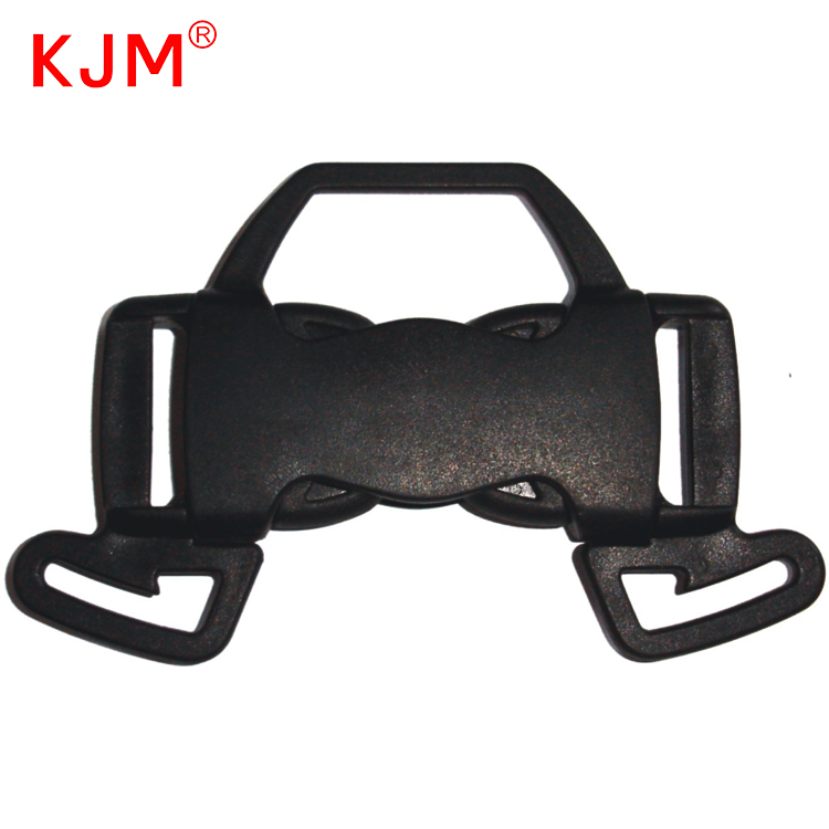 Made in china customized strong pull webbing black Stroller Accessories plastic Safety 5 way buckle