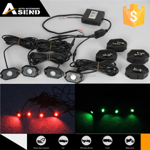 led work light 12v Bluetooth APP control RGB led rock light under car for Jeep/offroad/truck