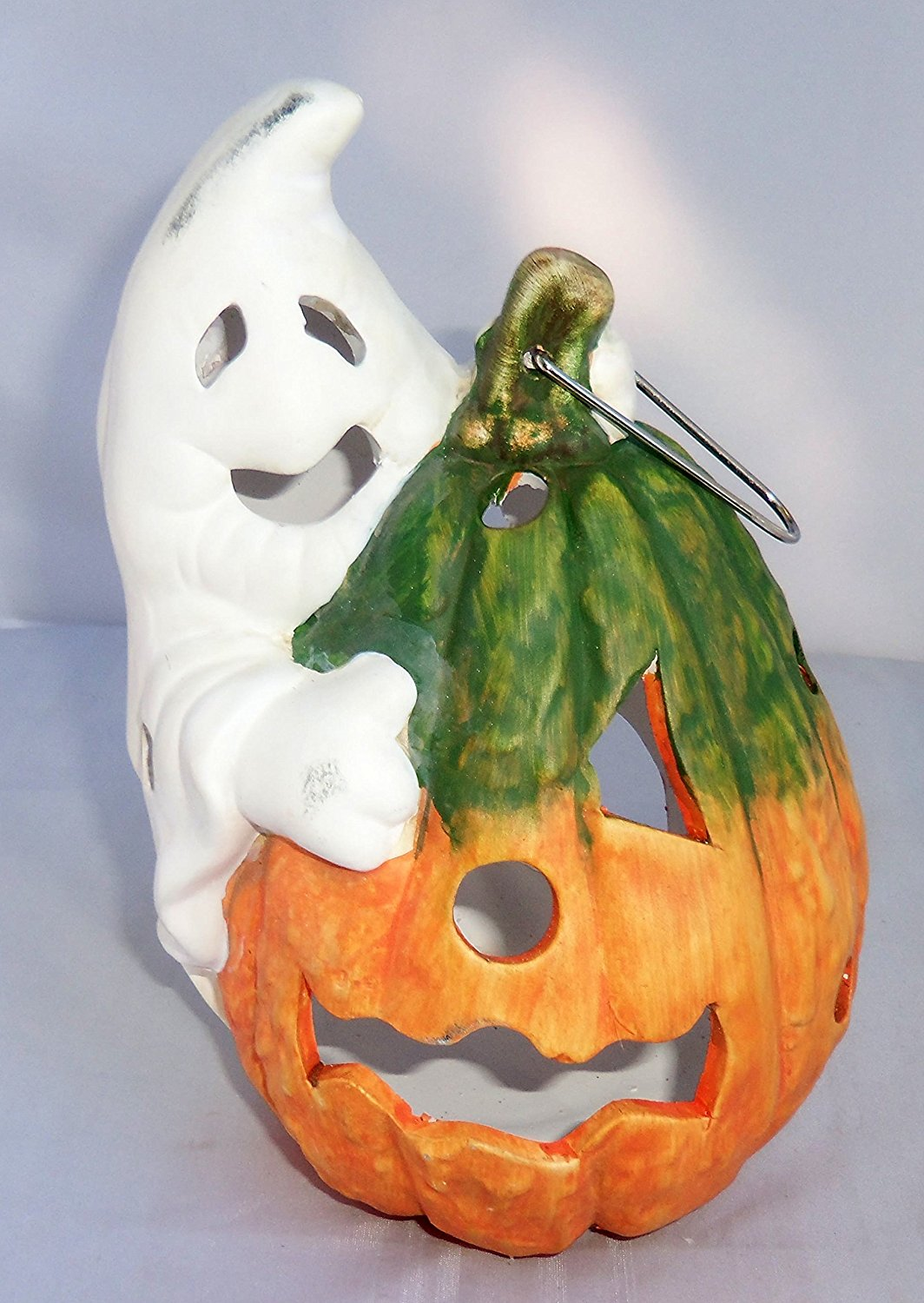Buy Halloween Ceramic Clay Tealight Holder Lantern Ghost Pumpkin 8 With Tea Light Candle In Cheap Price On Alibaba Com