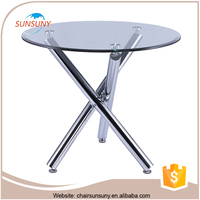 Modern Furniture Glass Kitchen Dining Table