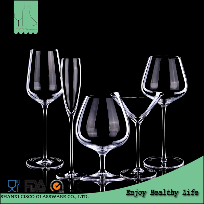 Cisco 2017 Hot New Design Custom RWG348 Wholesale Cut Crystal Wine Glass