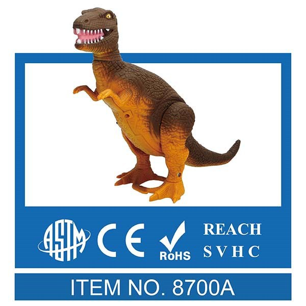 Real Walking + Roaring Sound Battery-operated Try-me Toy T-Rex Dinosaur