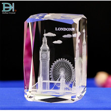 London Big Ben Tower Gravur <span class=keywords><strong>Kristall</strong></span> 3D Laser Cube