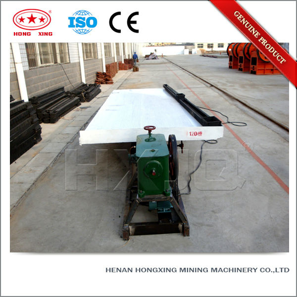 Alluvial gold ore dressing gravity mineral separating shaking table