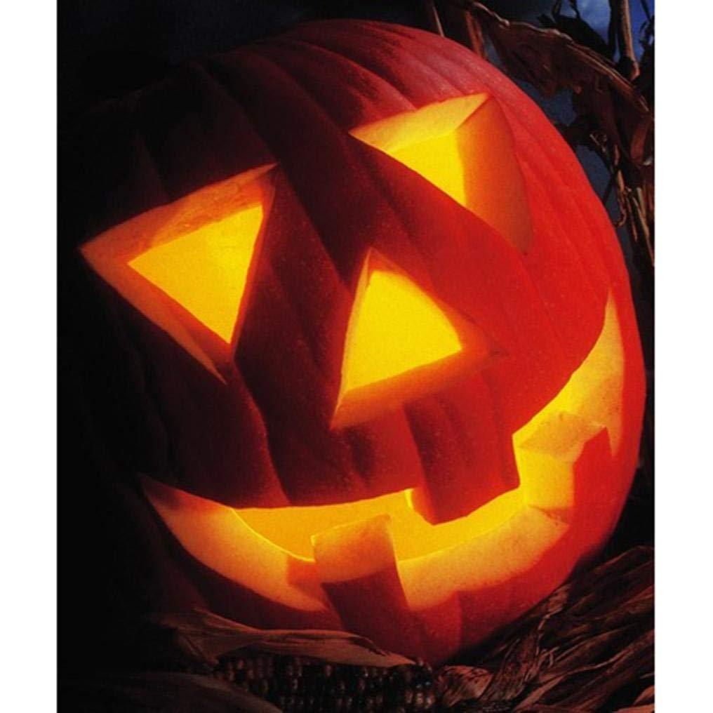 Halloween Pumpkin Terror Dark Diamond Painting, Franterd 5D DIY Diamond Painting by Number Kits Full Drill Rhinestone Cross Stitch Art Home Decor