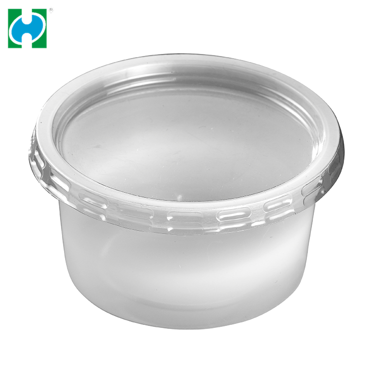 Custom Disposable Clear Ps Plastic Reusable Folding 3.25oz Drinking Cup
