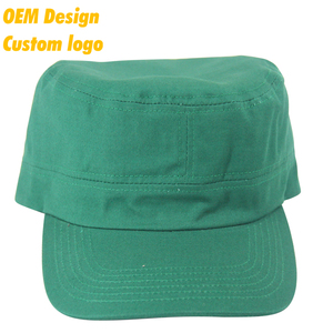 Custom Label Promotion TC Metal Buckle short visor sports Tie Dye Green domed crown Military cap for uniform