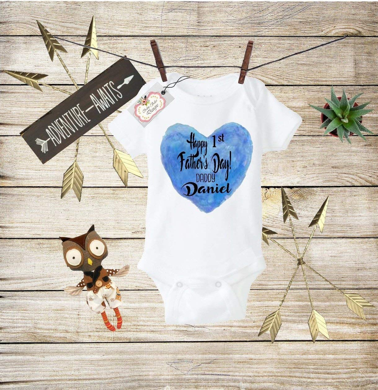 ecbffecf6daa Get Quotations · Happy Fathers Day Baby Clothes Baby Boys Fathers Day Shirt Boys  Fathers Day Bodysuit Fathers Day