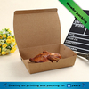 Food grade PE coated plain brown kraft paper fried chicken take out food box