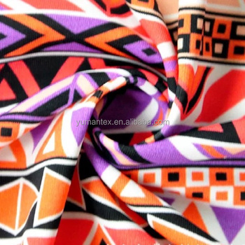 chinese supplier african geometry pattern acid digital ink-jet print beach shorts fabric