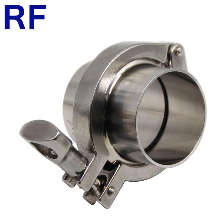 आरएफ स्टेनलेस स्टील 304 316L पाइप फिटिंग सेनेटरी वेल्ड सामी + त्रि दबाना + PTFE गैसकेट सेट