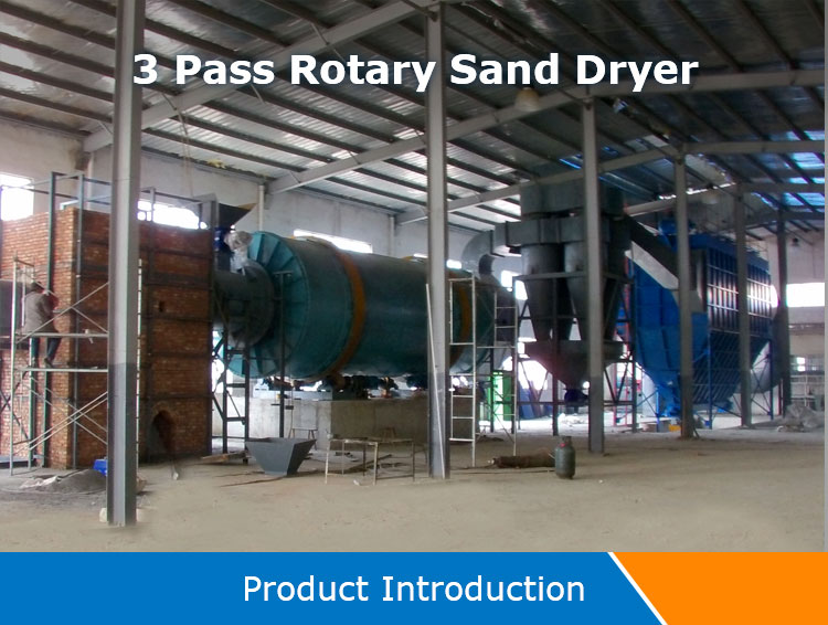 Top brand 3-pass cylinders double drum rotary dryer drying machine manufacture