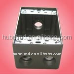 outdoor socket box with 2 inch depth,4holes, Aluminum,electrical box manufacturers
