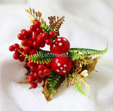 18cm christmas poinsettia picks cheap decorative christmas holly picks