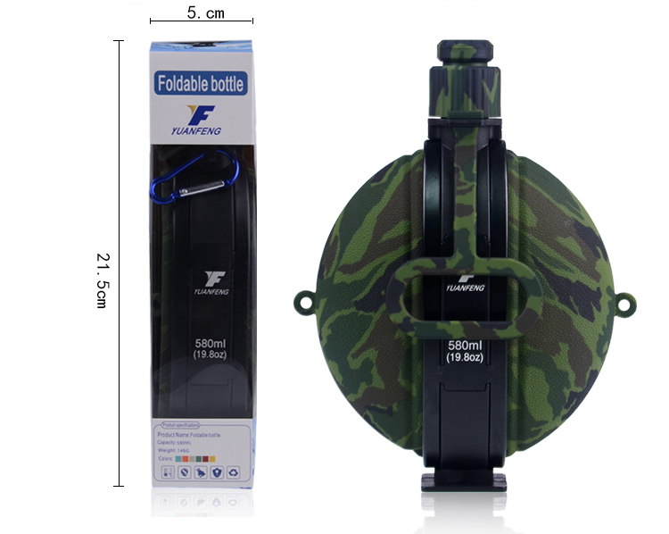 China Manufacturer Wholsale Outdoor Portable BPA Free Silicone Foldable Sport Water Bottle