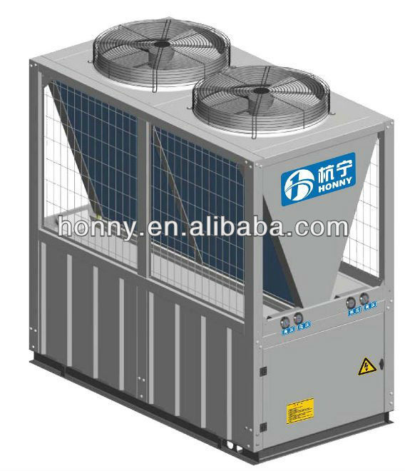 Air to water heat pump three in one unit for heating and cooling and sanitary hot water(50kW) high cop high seer btu CE
