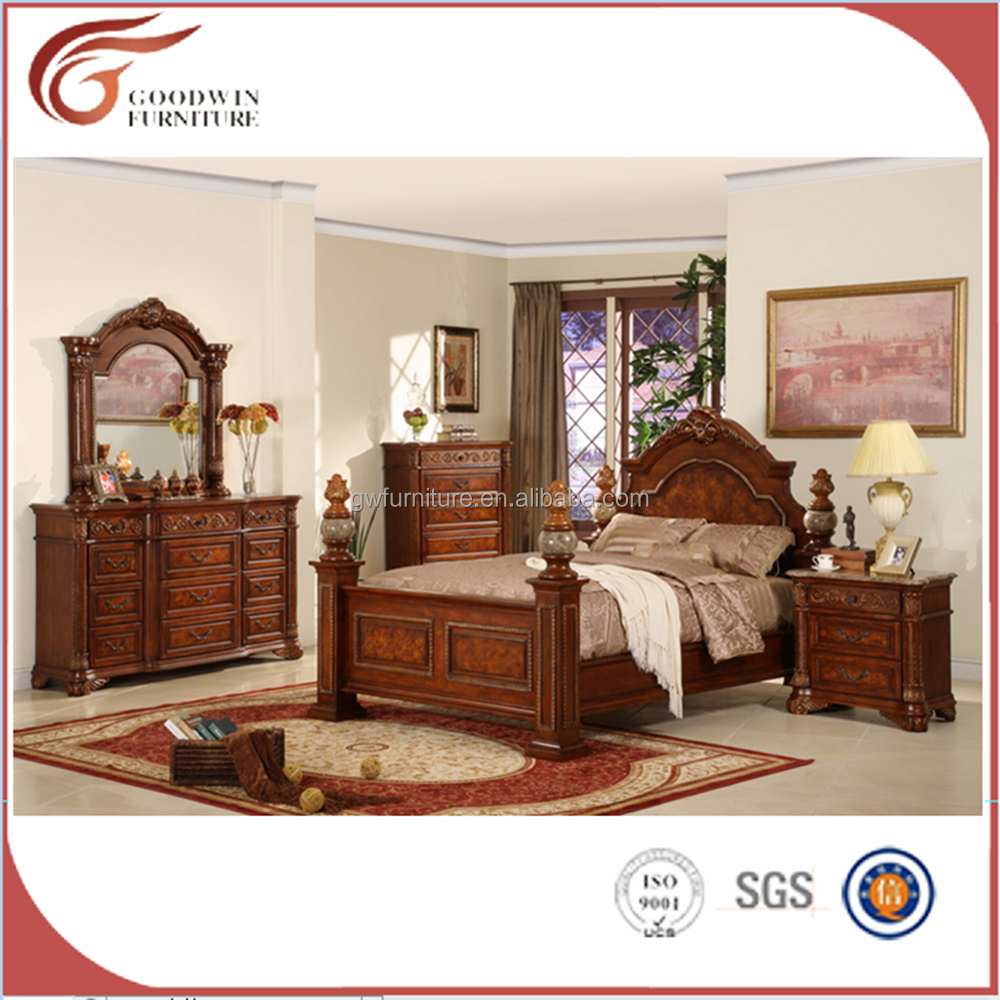 Wa174 India Import Beds Bedroom Furniture American Style Solid Wood With  Carving By Hand - Buy India Import Beds,India Carved Bed,Latest Bed Design  ...