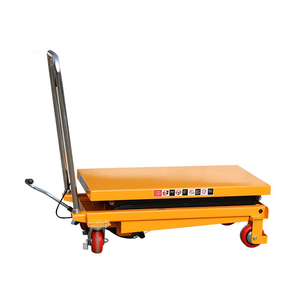 Manual lift table trolley machine hydraulic lift top table