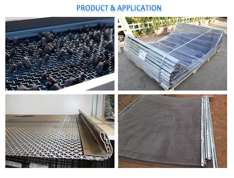 High Tensile 65 Mn Crimped Woven Vibrating Screen Mesh for Quarry Rock Crusher Screen