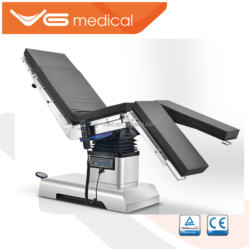 Stainless Steel Surgical Instrument Hydraulic Operating Table